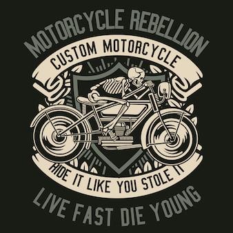 Skull rebel motorcycle