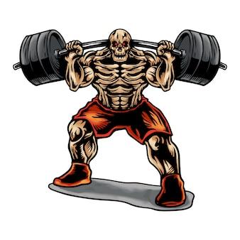 Skull weightlifting