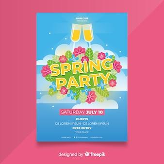 Sky party poster di primavera
