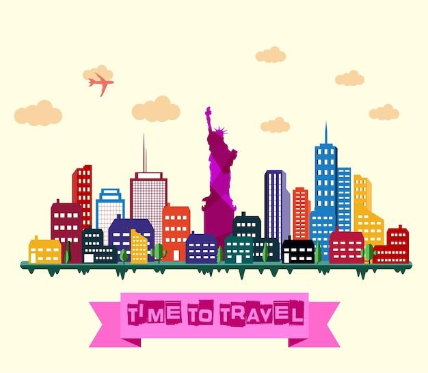 Skyline della città di new york