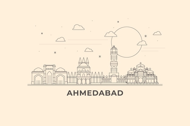 Skyline di ahmedabad lineare