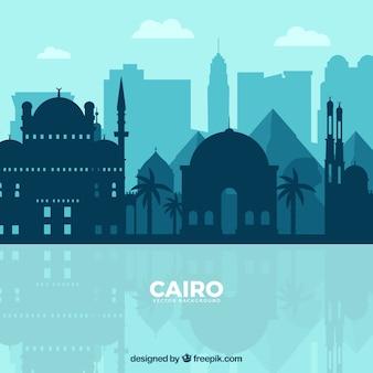 Skyline di cairo, egitto