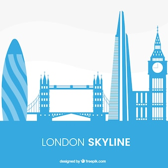 Skyline di londra blu