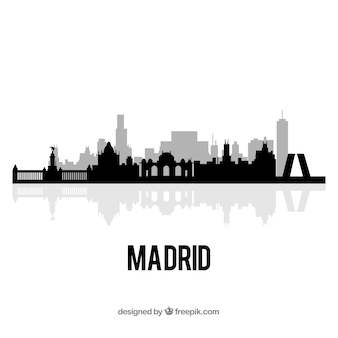 Skyline di madrid