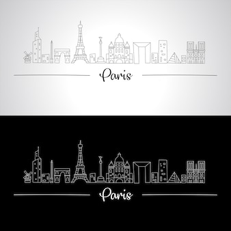 Skyline di parigi con tutti gli edifici famosi