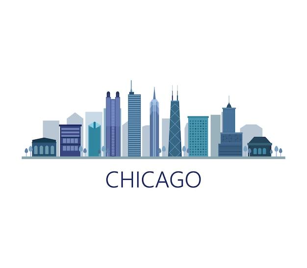 Skyline moderno di chicago