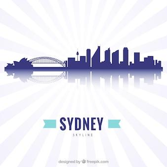 Skyline moderno di sydney