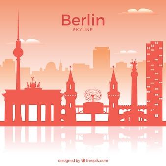 Skyline rosso di berlino