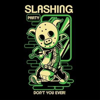 Slashing party 4