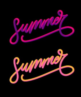 Slogan delle vacanze estive con ananas e fiori tropicali