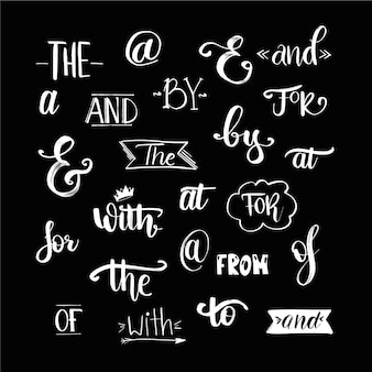 Slogan di nozze disegnati a mano