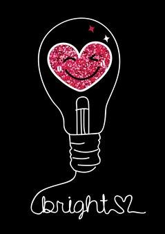 Slogan di tipografia con forma d'amore