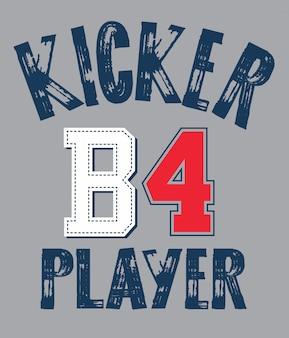 Slogan di tipografia per la stampa di magliette