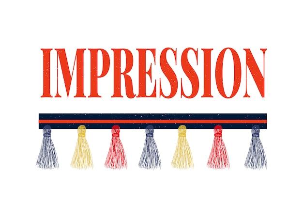Slogan impressione frase grafica vettoriale stampa moda lettering