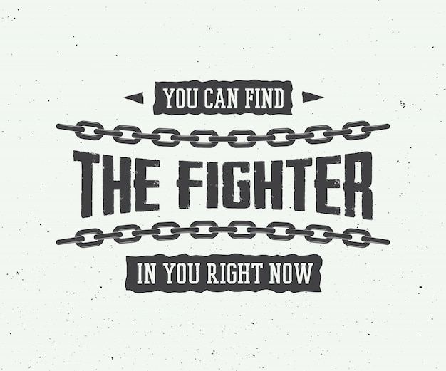 Slogan motivazionale vintage