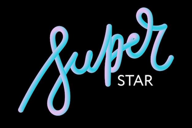 Slogan superstar frase lettering calligrafia