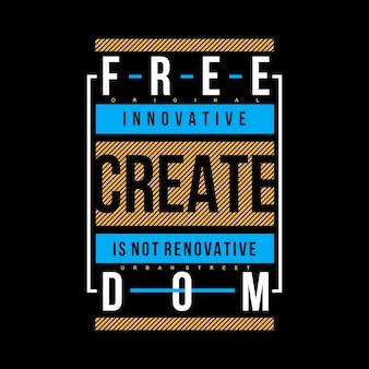 Slogan t shirt nuovo design vettoriale