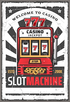Slot machine con jackpot vincente 777. gioco da casinò