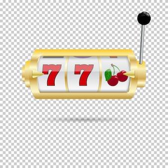 Slot machine dorata isolata