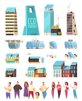 Smart city housing business center servizi cittadini smartphone notifiche sistema servizio trasporto tecnologia set piatto