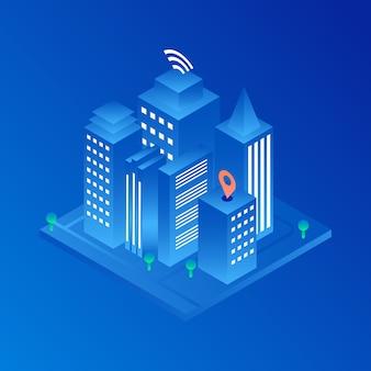 Smart city illustration sfondo