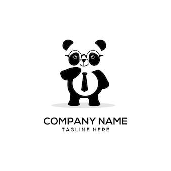 Smart panda logo carino