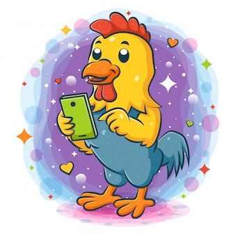Smart phone diritto della tenuta del gallo