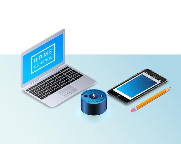 Smart speaker amazon eco per il controllo della casa intelligente, iot