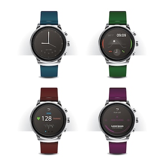 Smart watch con set display digitale