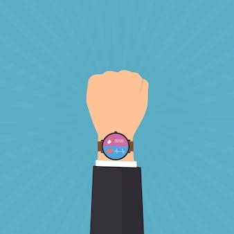 Smart watch display salute e applicazione medica