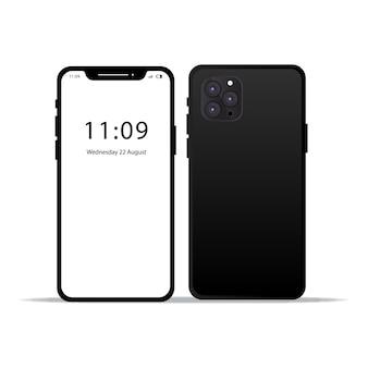Smartphone anteriore e posteriore