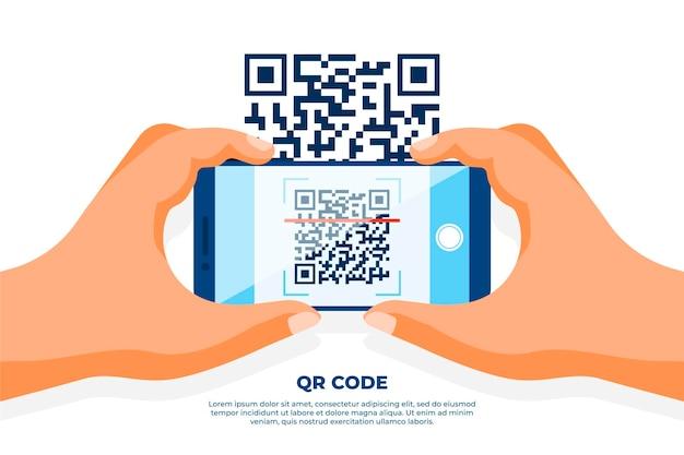 Smartphone che scansiona il codice qr