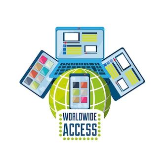 Smartphone, computer, laptop e tablet collegati a internet