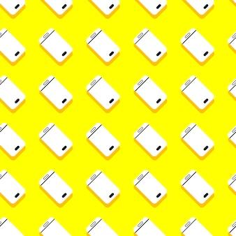 Smartphone con motivo di sfondo senza soluzione di continuità. dispositivo mobile. illustrare.