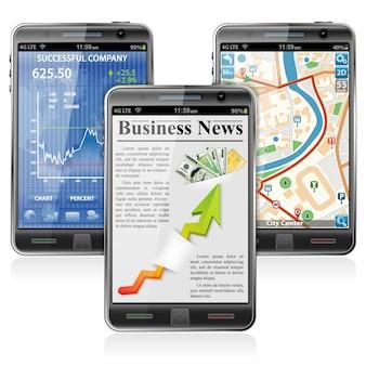Smartphone con varie applicazioni