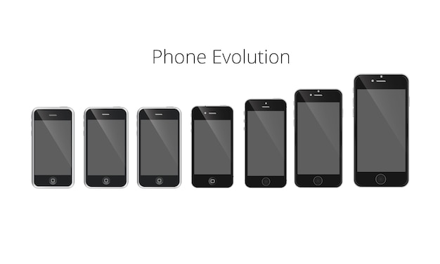 Smartphone evolution vector