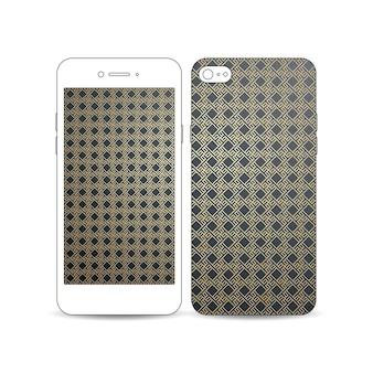 Smartphone mobile con un esempio dello schermo
