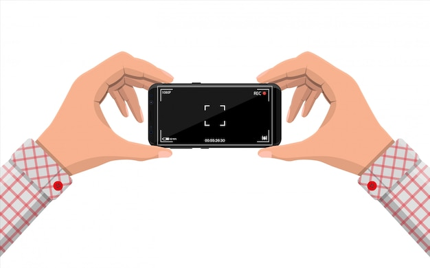 Smartphone moderno con applicazione fotocamera.