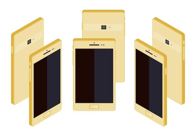 Smartphone oro generico isometrico