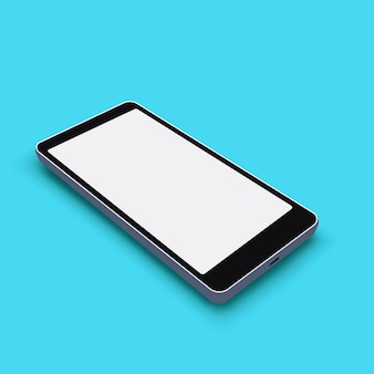 Smartphone su blu