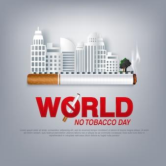 Smettere di fumare world day no tobacco concept