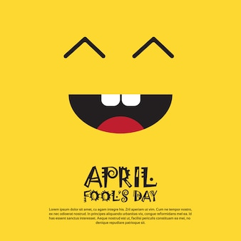 Smiling face first april fool giornata happy holiday greeting card