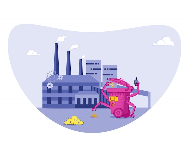 Smistamento, riciclaggio dei rifiuti per proteggere l'ambiente.