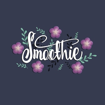 Smoothie lettering banner design