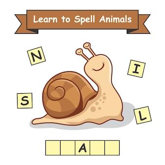 Snail impara a sillabare gli animali