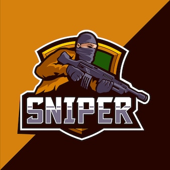 Sniper esport mascot logo design