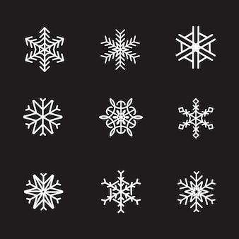 Snowflake icon logo christmas