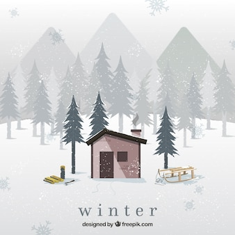 Snowy illustrazione inverno