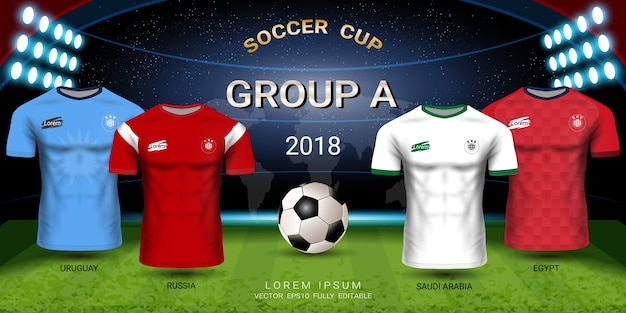 Soccer jersey football cup 2018 gruppo a