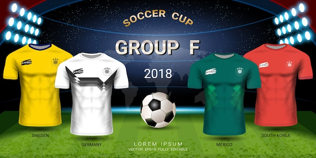 Soccer jersey football cup 2018 gruppo squadre f